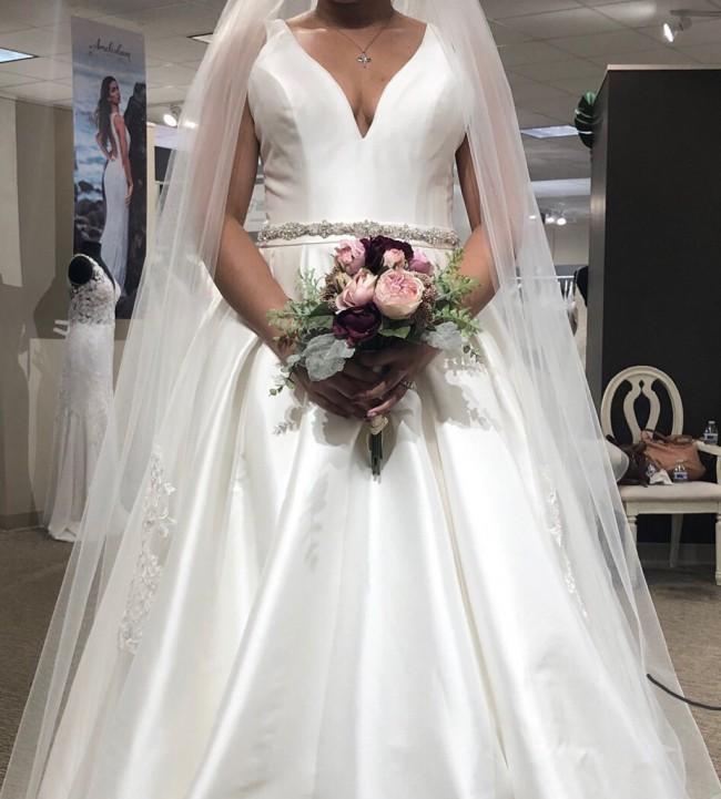 Allure Bridals Simple Ballgown