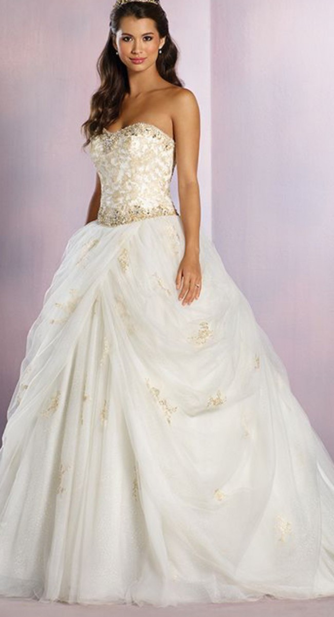 a3a21299828 Alfred Angelo Disney Belle 254 New Wedding Dress on Sale 50% Off ...